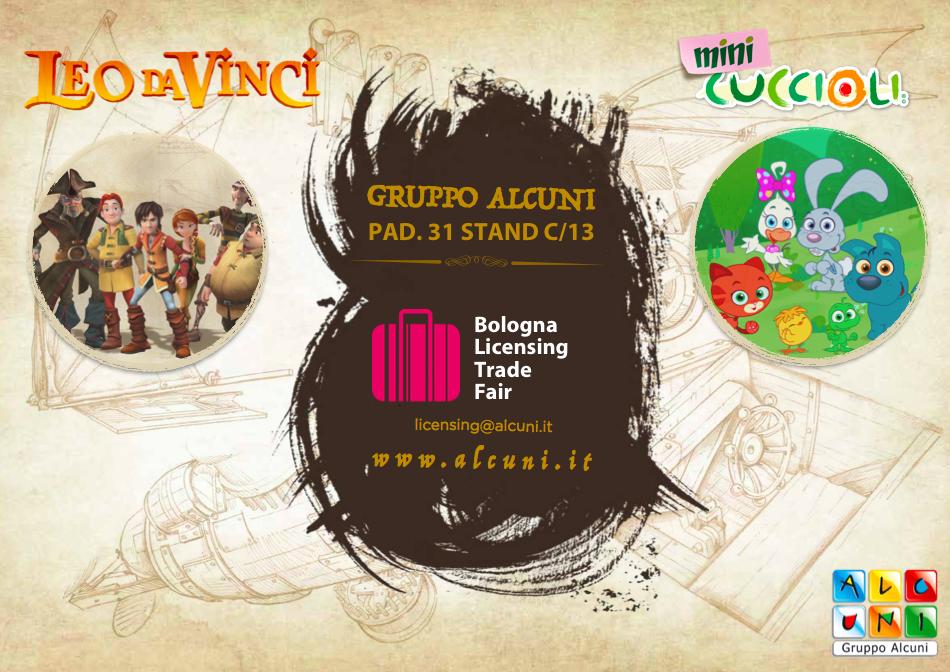 Leo da Vinci e i brand di Gruppo Alcuni al Bologna Licensing Trade Fair 2019